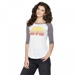 NWT What Up Sun Raglan Graphic T-Shirt Medium